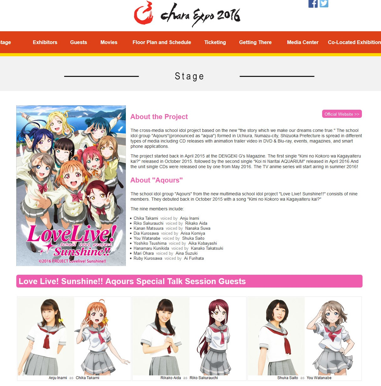 C3 CharaExpo 2016 - Featured Contents - Love Live! School idol project Sunshine!!